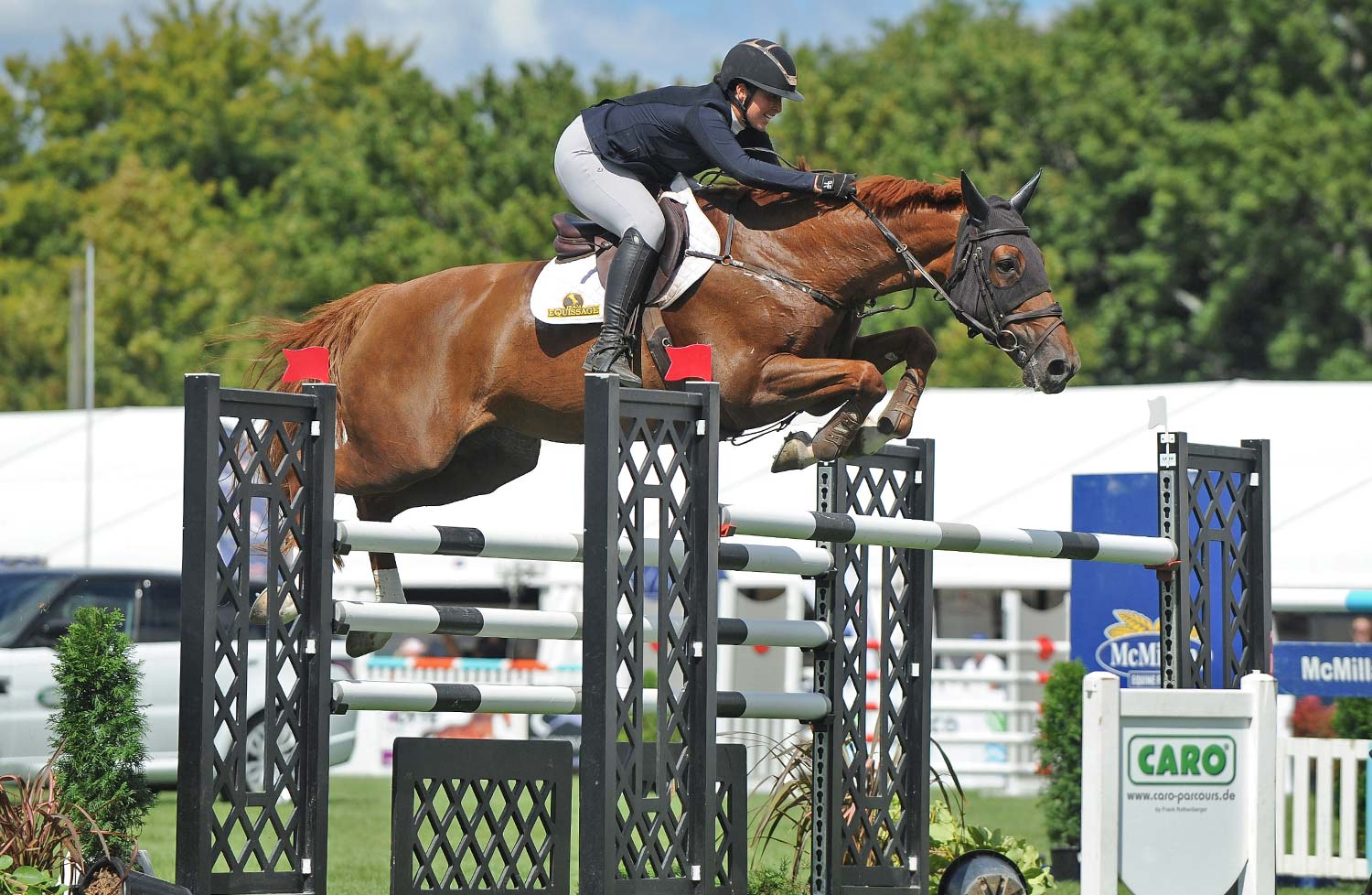 Welcome comeback for Samantha Morrison in Land Rover Horse of the Year..